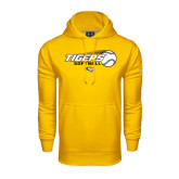 Under Armour Gold Performance Sweats Team Hoodie-Tigers Softball Flat w/Flying Ball