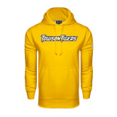 Under Armour Gold Performance Sweats Team Hoodie-Towson Tigers Wordmark