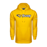Under Armour Gold Performance Sweats Team Hoodie-Tiger Head w/Towson Flat