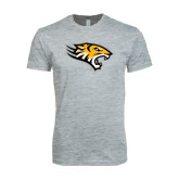 Next Level SoftStyle Heather Grey T Shirt-Tiger Head