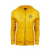 ENZA Ladies Gold Fleece Full Zip Hoodie-T w/Tiger Head