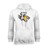 White Fleece Hoodie-T w/Tiger Head