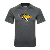 Under Armour Carbon Heather Tech Tee-Tiger Head