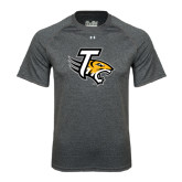 Under Armour Carbon Heather Tech Tee-T w/Tiger Head
