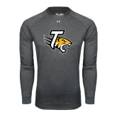 Under Armour Carbon Heather Long Sleeve Tech Tee-T w/Tiger Head