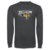Charcoal Long Sleeve T Shirt-Primary Athletics Mark