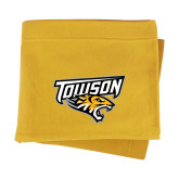 Gold Sweatshirt Blanket-Primary Athletics Mark