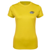 Ladies Syntrel Performance Gold Tee-Tiger Athletic Fund