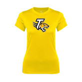 Ladies Syntrel Performance Gold Tee-T w/Tiger Head