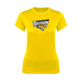 Ladies Syntrel Performance Gold Tee-Football
