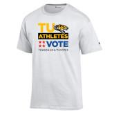 Champion White T Shirt-TU Athletics Vote