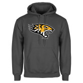 Charcoal Fleece Hoodie-Tiger Head