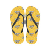 Full Color Flip Flops-Towson Yellow Tiger Stripe