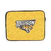 13 inch Neoprene Laptop Sleeve-Towson Yellow Tiger Stripe