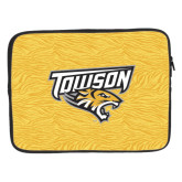 15 inch Neoprene Laptop Sleeve-Towson Yellow Tiger Stripe