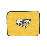 10 inch Neoprene iPad/Tablet Sleeve-Towson Yellow Tiger Stripe
