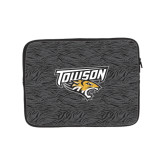 10 inch Neoprene iPad/Tablet Sleeve-Towson Charcoal Tiger Stripe