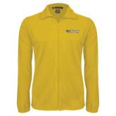 Fleece Full Zip Gold Jacket-Athletics Wordmark