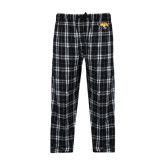 Black/Grey Flannel Pajama Pant-Tiger Head