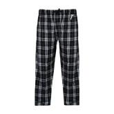 Black/Grey Flannel Pajama Pant-Towson T