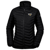 Columbia Powder Lite Ladies Black Jacket-Primary Athletics Mark