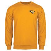 Gold Fleece Crew-Tiger Head
