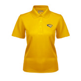 Ladies Gold Dry Mesh Polo-Tiger Head