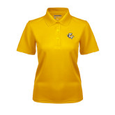 Ladies Gold Dry Mesh Polo-T w/Tiger Head