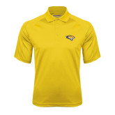 Gold Textured Saddle Shoulder Polo-Tiger Head