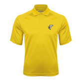 Gold Textured Saddle Shoulder Polo-Towson T