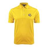 Gold Dry Mesh Polo-T w/Tiger Head