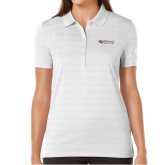 Ladies Callaway Opti Vent White Polo-Athletics Wordmark