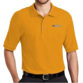 Gold Easycare Pique Polo-Athletics Wordmark