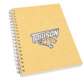 Clear 7 x 10 Spiral Journal Notebook-Towson Yellow Tiger Stripe