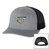 Richardson Heather Grey/Black Trucker Hat-Baseball