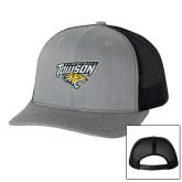 Richardson Heather Grey/Black Trucker Hat-Basketball