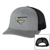 Richardson Heather Grey/Black Trucker Hat-Lacrosse