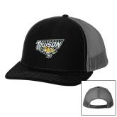 Richardson Black/Charcoal Trucker Hat-Baseball
