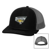 Richardson Black/Charcoal Trucker Hat-Basketball