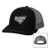 Richardson Black/Charcoal Trucker Hat-Lacrosse
