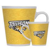 Full Color Latte Mug 12oz-Towson Yellow Tiger Stripe