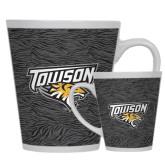 Full Color Latte Mug 12oz-Towson Charcoal Tiger Stripe