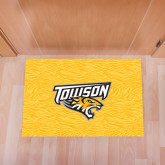 Full Color Indoor Floor Mat-Towson Yellow Tiger Stripe
