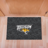 Full Color Indoor Floor Mat-Towson Charcoal Tiger Stripe