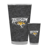 Full Color Glass 17oz-Towson Charcoal Tiger Stripe