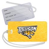 Luggage Tag-Towson Yellow Tiger Stripe