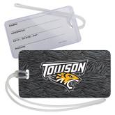 Luggage Tag-Towson Charcoal Tiger Stripe