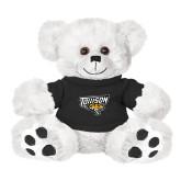 Plush Big Paw 8 1/2 inch White Bear w/Black Shirt-Primary Athletics Mark