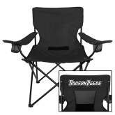 Deluxe Black Captains Chair-Towson Tigers Wordmark