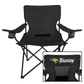 Deluxe Black Captains Chair-Tiger Head w/Towson Flat